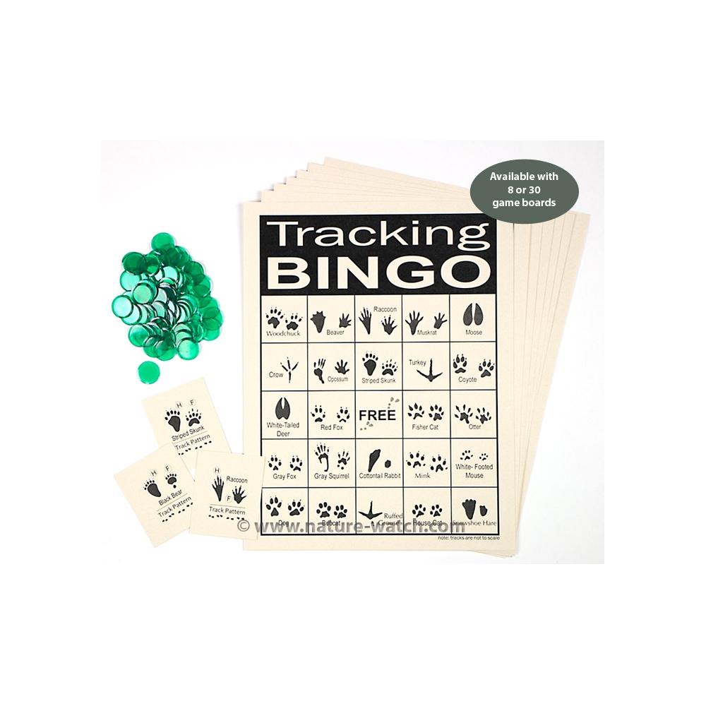 picture regarding Animal Tracks Printable referred to as Animal Monitoring Bingo Sport