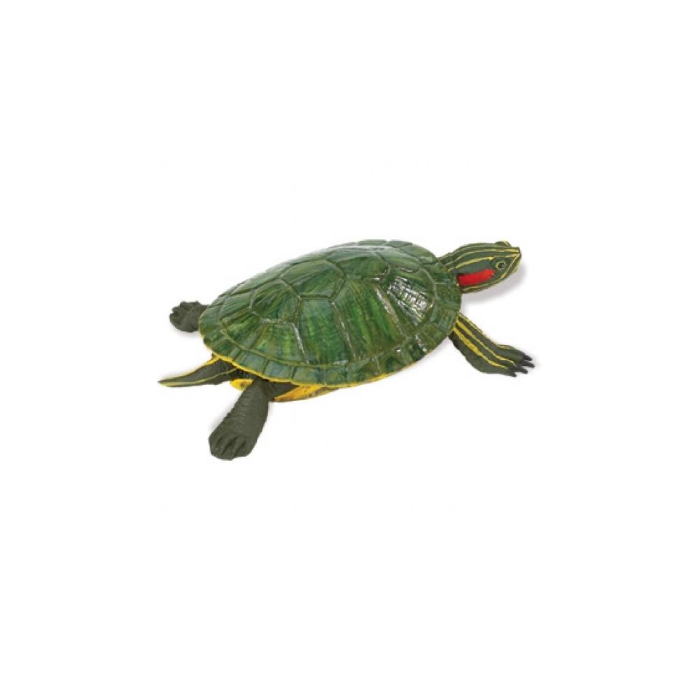 Red Eared Slider Turtle Replica Figurine Turtle Replica