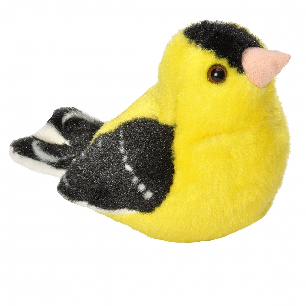 American Goldfinch Audubon Stuffed Animal With Bird Song