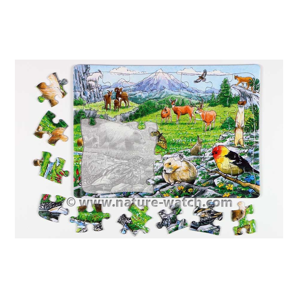 Rocky Mountain Wildlife Puzzle - Puzzle for Kids