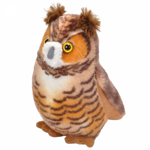 Great Horned Owl Audubon Stuffed Animal With Bird Song