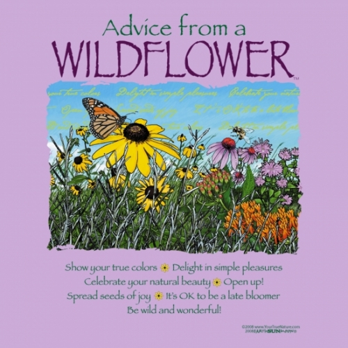 advice from a wildflower t