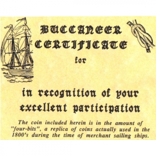 Pirate Certificates (Pack of 25)