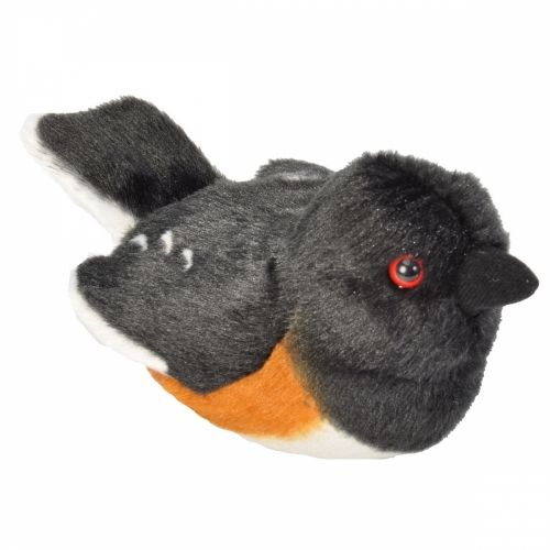 Eastern Towhee Stuffed Animal (with Bird Song)
