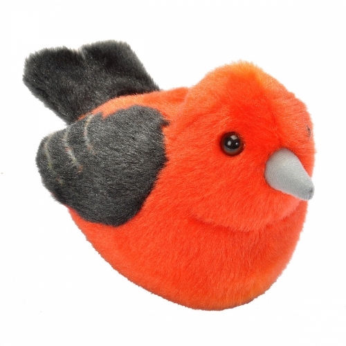 Scarlet Tanager Stuffed Animal (with Bird Song)