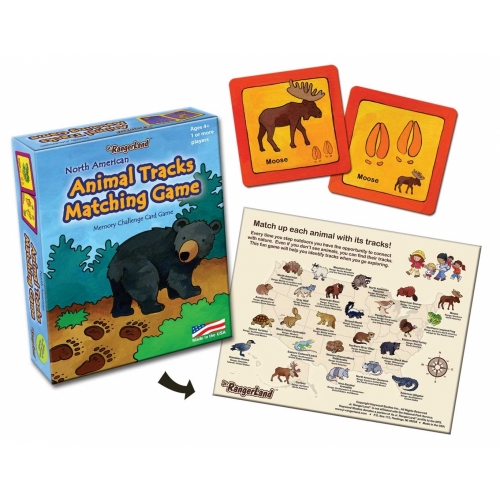 Animal Tracks Preschool Matching Game
