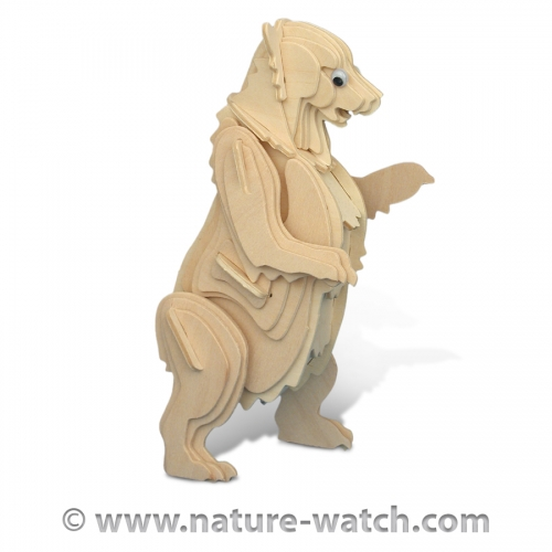 Grizzly Bear 3D Wood Puzzle