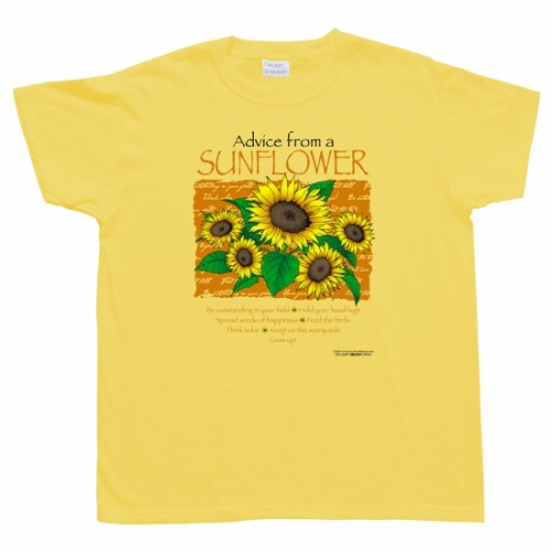 Advice from a Sunflower T-Shirt